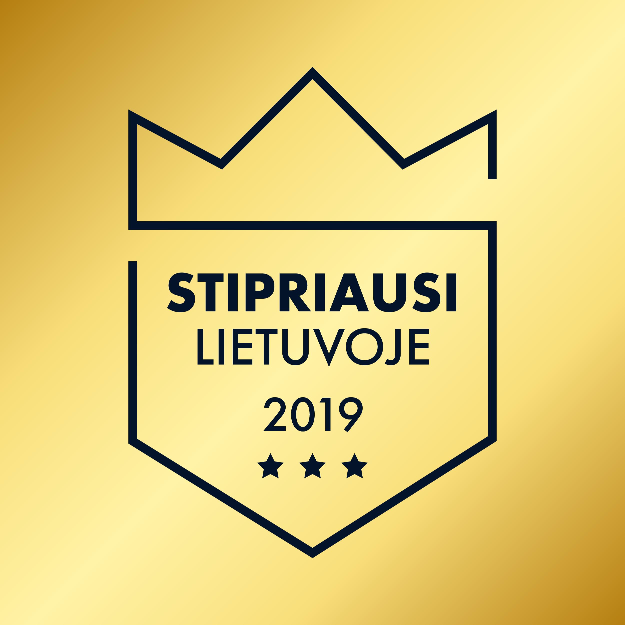 Stipriausi Lietuvoje 2019